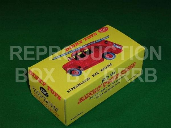 Dinky #250 (25h) Streamlined Fire Engine - Reproduction Box